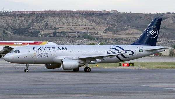 Saudi Arabian Airlines in SkyTeam colors