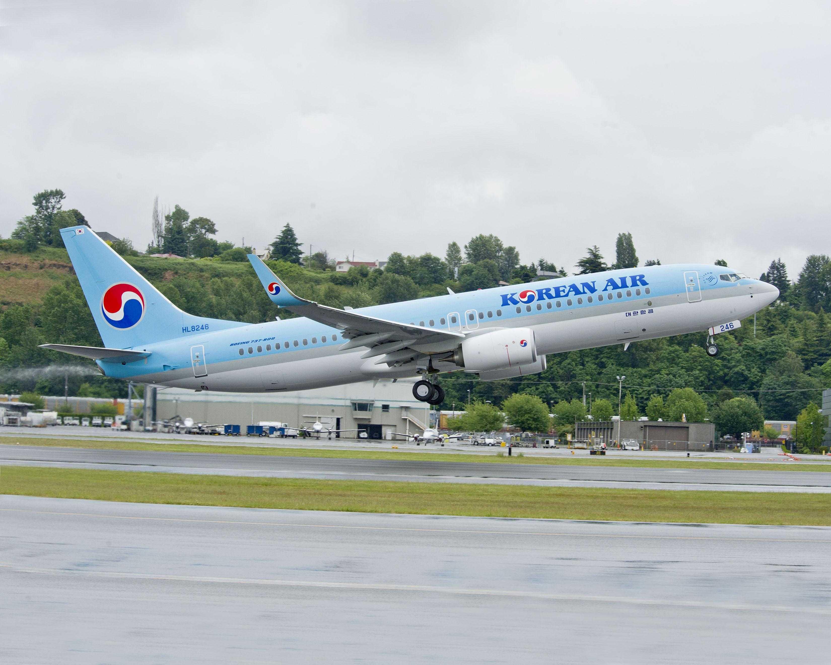 Korean Air HAZ YS501 4057 (KAL) 783-800 Registration Photos