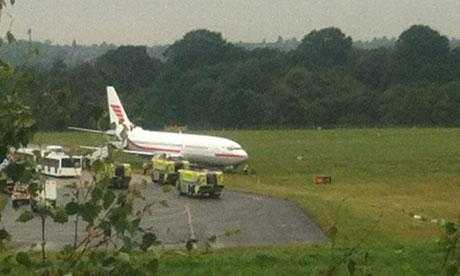 A Monarch flight ZB467 arriving from Nice skidded off the runway after landing at Birmingham Airport