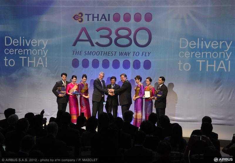 Ceremonie_livrare_A380_Thai