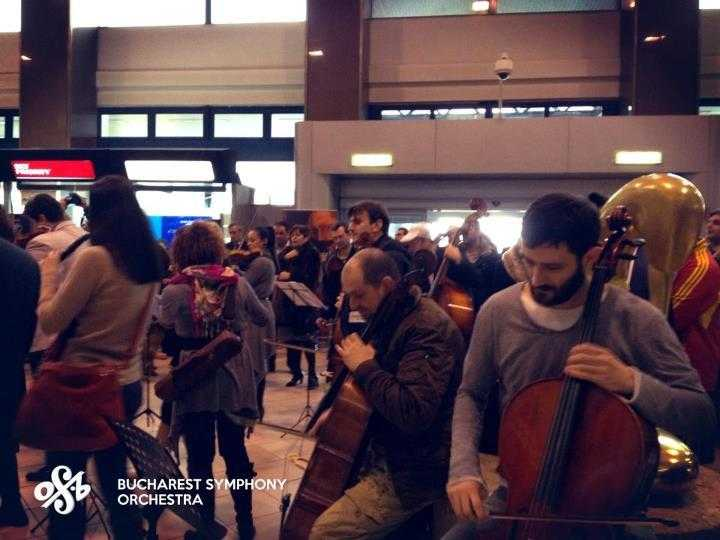 flash mob Orchestra simfonica din Bucuresti