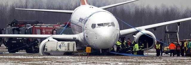usuwanie samolotu blokuj¹cego pas lotniska