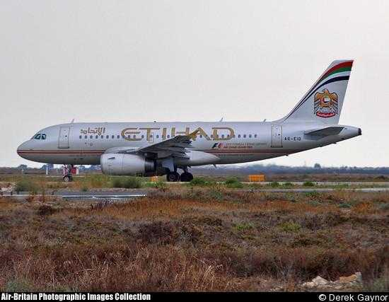 A319 di Etihad Airways