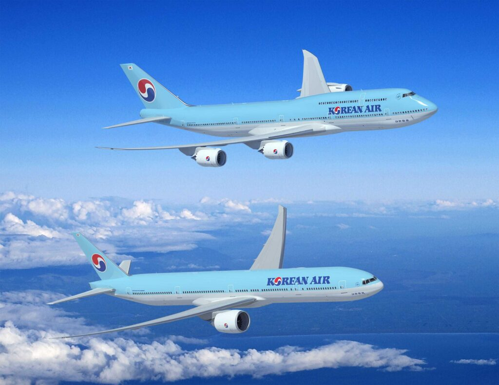 Korean Airlines KAL 747-8I and 777-300ER Artwork