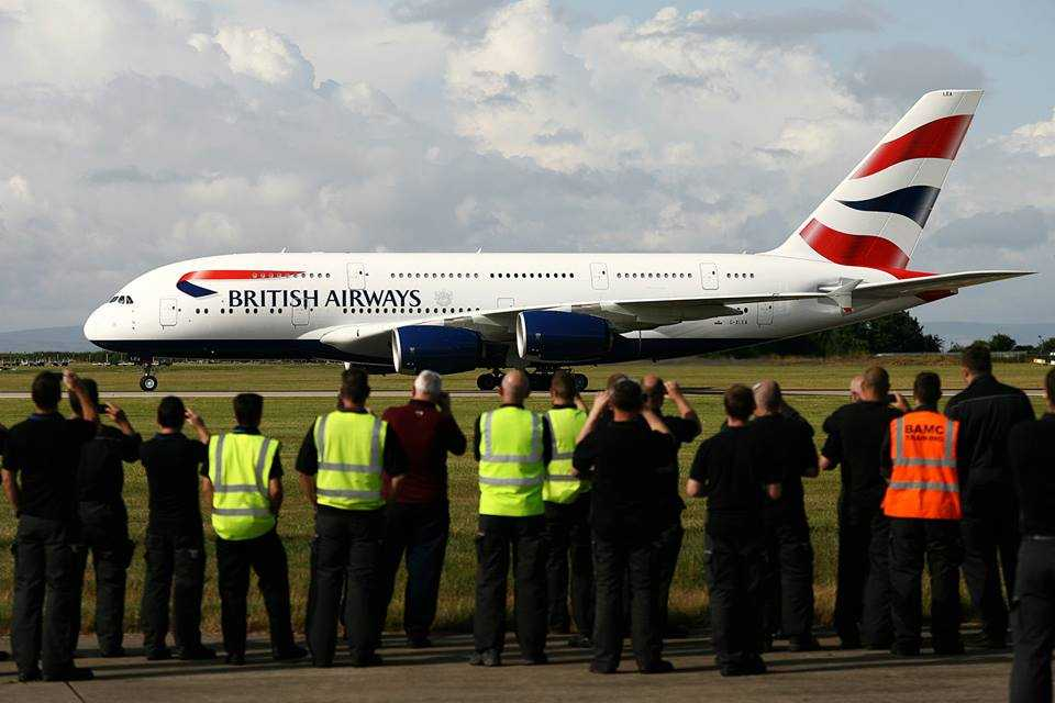 A380 British Airways Cardiff 1