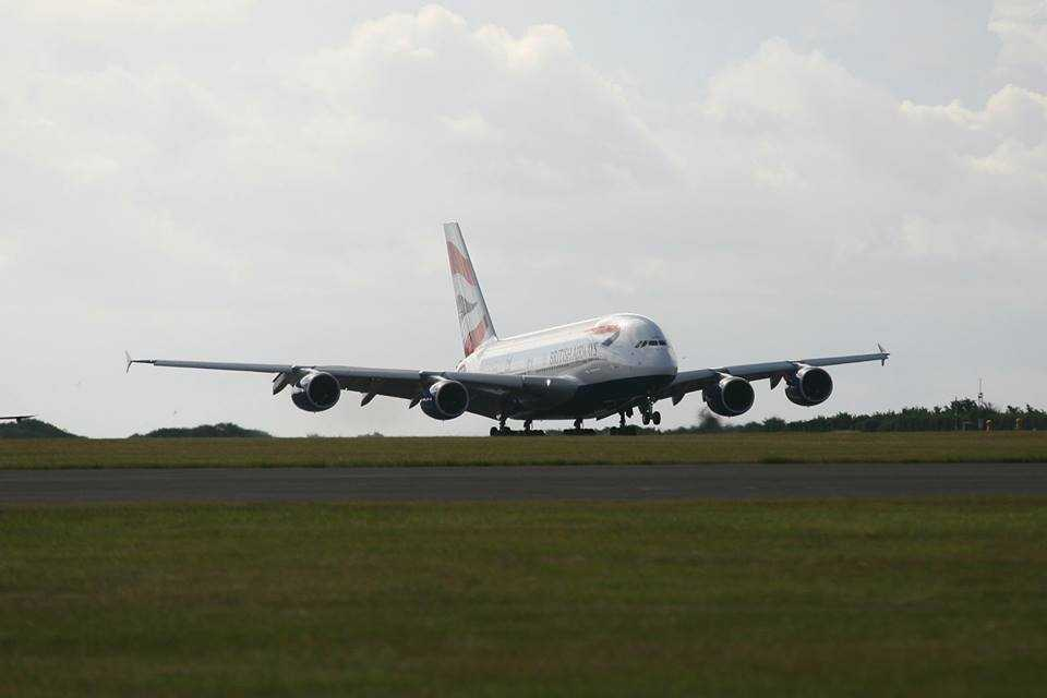 A380 British Airways Cardiff