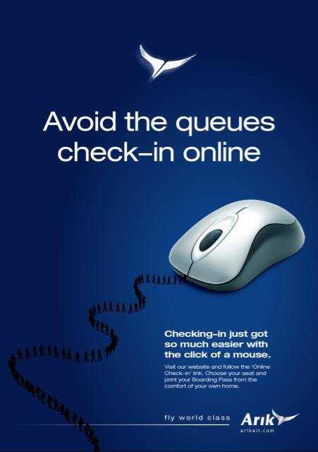 Online-Check-in von Arik Air