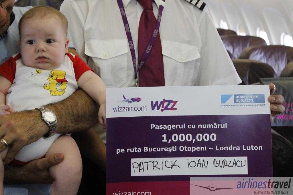 Wizz Air a sărbătorit 1 milion de pasageri pe rutele Bucureşti – Roma şi Bucureşti – Londra