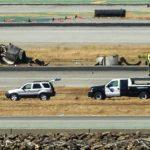 SAN FRANCISCO, CA - JULY 6:  Wreckage from a Boeing 777 airplane lies on the tarmac after it crashed while landing at San Francisco International Airport July 6, 2013 in San Francisco, California. An Asiana Airlines passenger aircraft coming from Seoul, South Korea crashed while landing. Two fatalities have so far been reported. (Photo by Kimberly White/Getty Images)