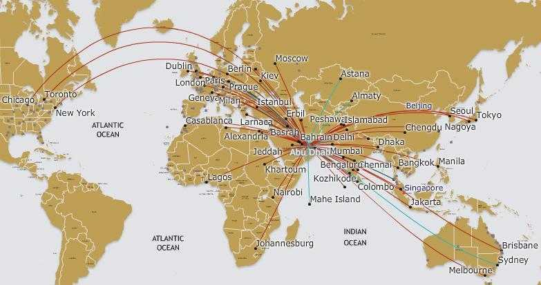 Etihad-Route-Map