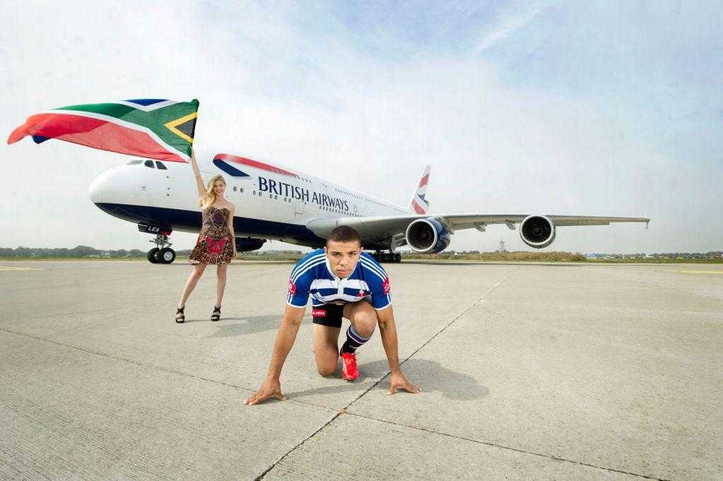 Georgia-May-Jagger-starts-the-race-with-Bryan-Habana-and-British-Airways_-A380