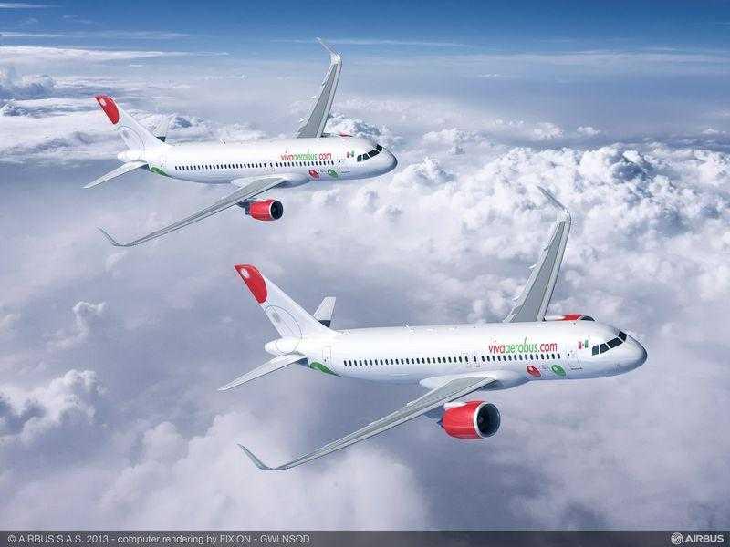 A320neo__VivaAerobus_Pratt_Whitney_engine_and_A320ceo_CFM_engine