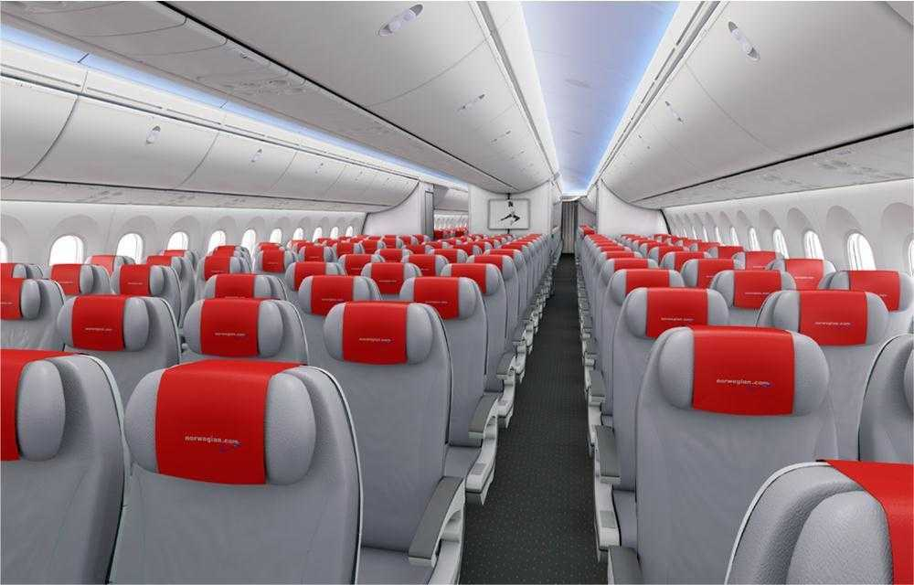 NOT dreamliner norwegian cabin
