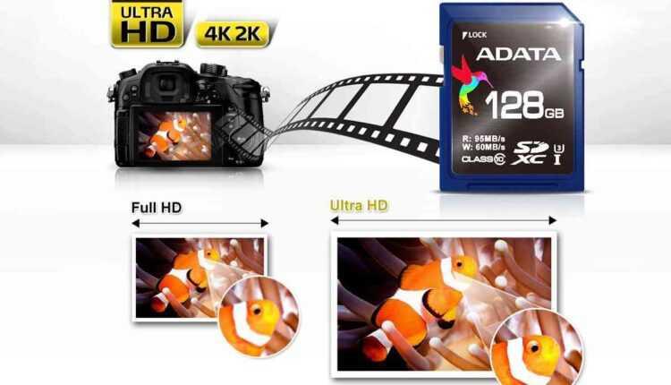 ADATA lansează cardurile de memorie SDXC UHS-I Speed Class 3 (U3)