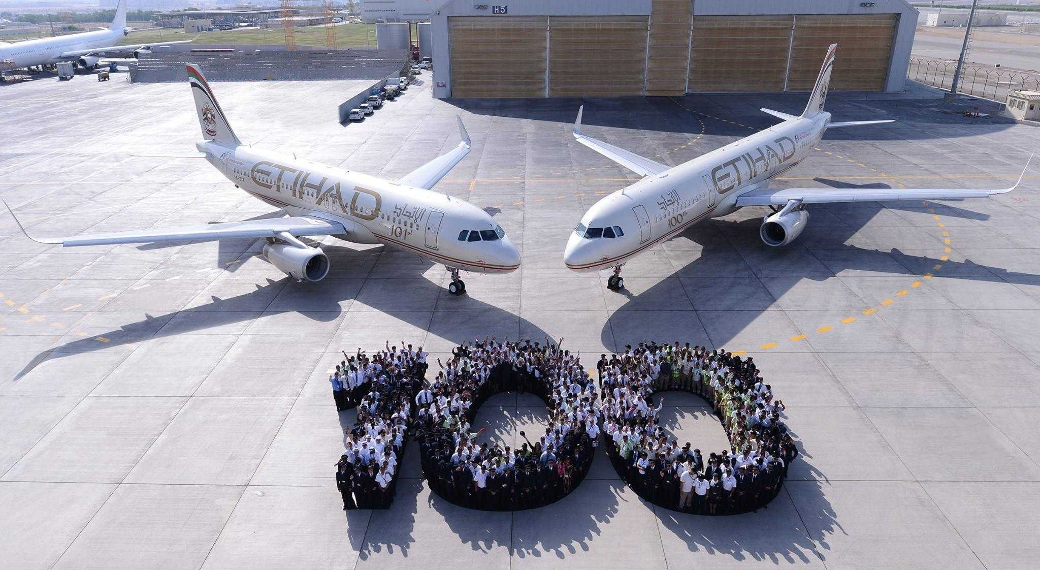 100 si 100 avioane Etihad Airways
