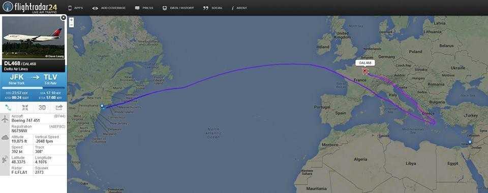 747_Delta_zbor_suspendat_tel_aviv