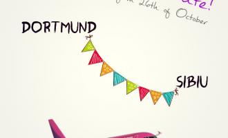 Sibiu – Dortmund cu Wizz Air, din 26 octombrie 2014