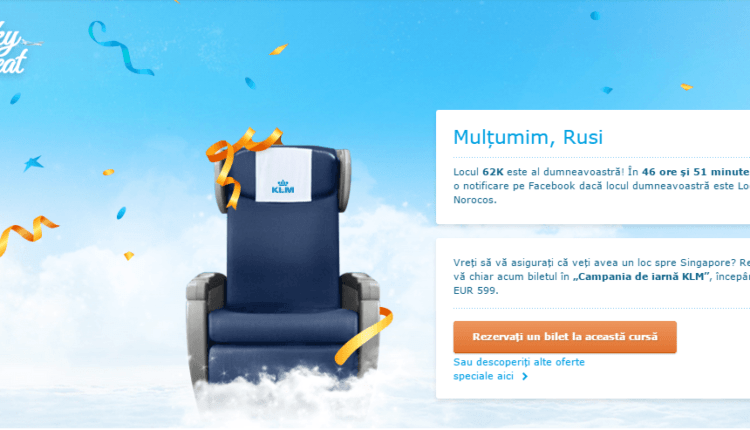 "[Concurs KLM] ""Lucky Seat"""