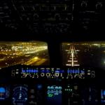 Aterizare_Dubai_vedere_cockpit_A380_Emirates