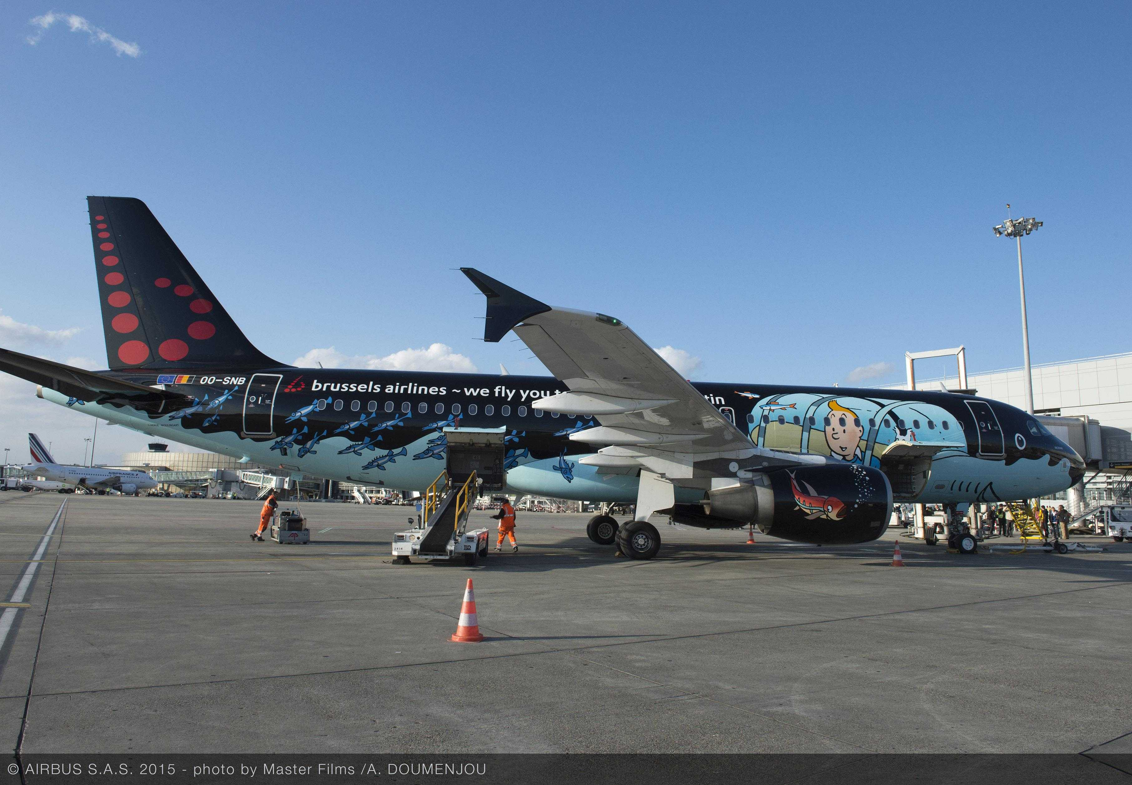 A320 Brussels Airlines in tintin