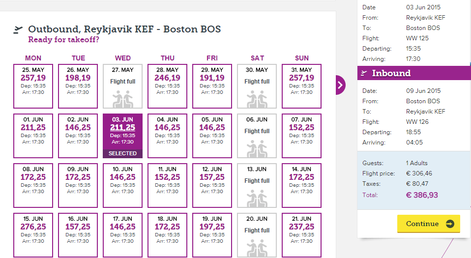 Reykjavik KEF-Boston-A321-WOW-Air