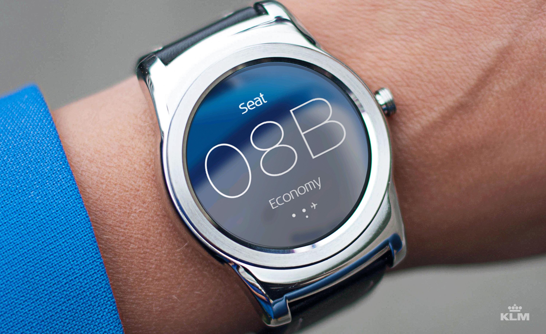 App KLM pentru smartwatch Android