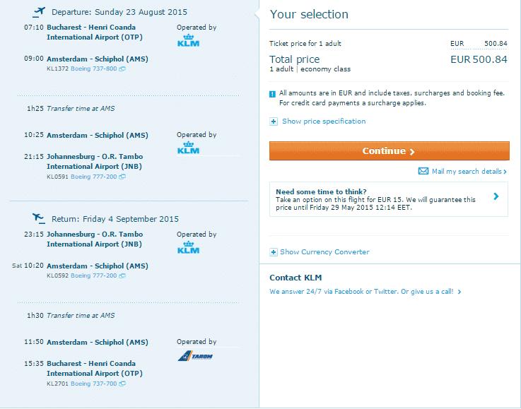 Bucareste Joanesburgo-500-euro