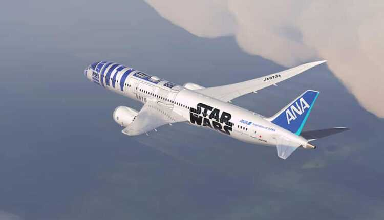 "(Video) Boeing 787-9 ANA în livery ""Star Wars"""