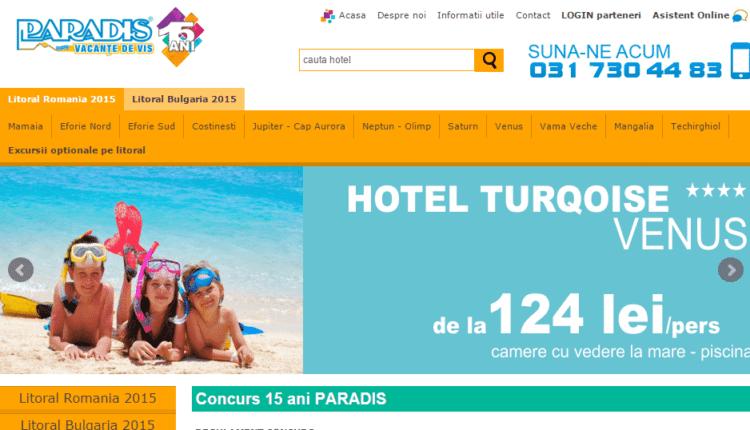 [Concurs] Povestea ta de 15 ani – concurs aniversar Paradis Vacanţe de vis 15 ani!