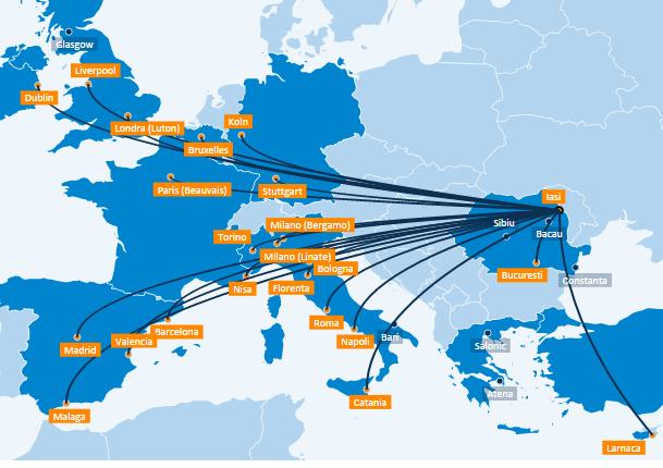 20 de rute noi de la Blue Air pentru sezonul de vară 2016
