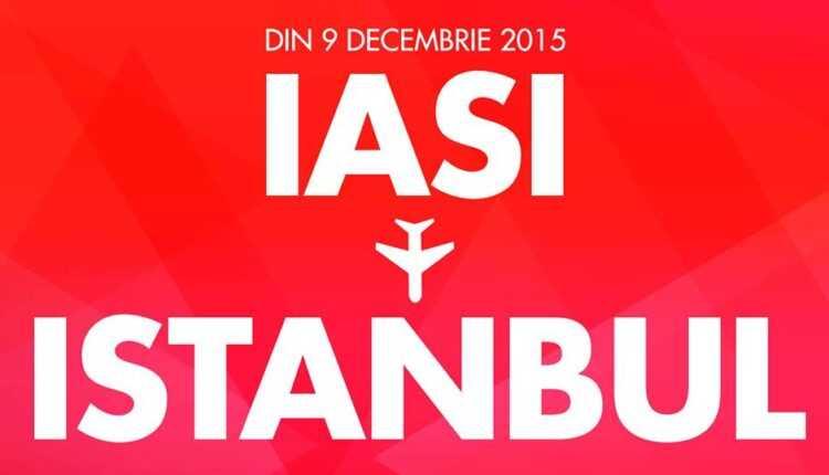 Iaşi – Istanbul cu TAROM, din 9 decembrie 2015