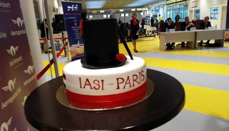 (VIDEO) Iaşi – Paris cu Blue Air, zborul inaugural
