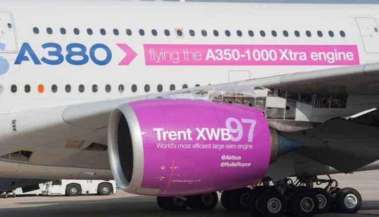 Airbus testează motorul Rolls-Royce Trent XWB-97 dedicat aeronavelor Airbus A350-1000