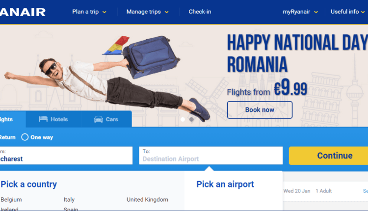 [Oferta Ryanair] Milano Malpensa, Milano Bergamo, Roma Ciampino şi Bologna @ 9.99EURO