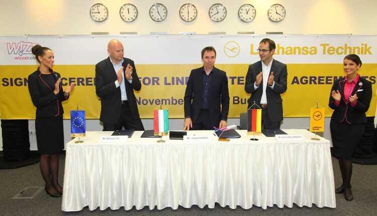 WIZZ AIR reînnoieşte contractele de întreţinere cu Lufthansa Technik Group