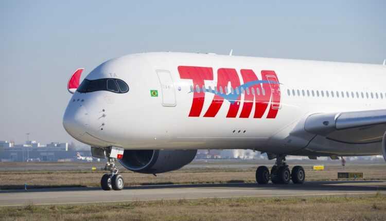 (Video) Primul Airbus A350 XWB TAM Airlines la primul zbor