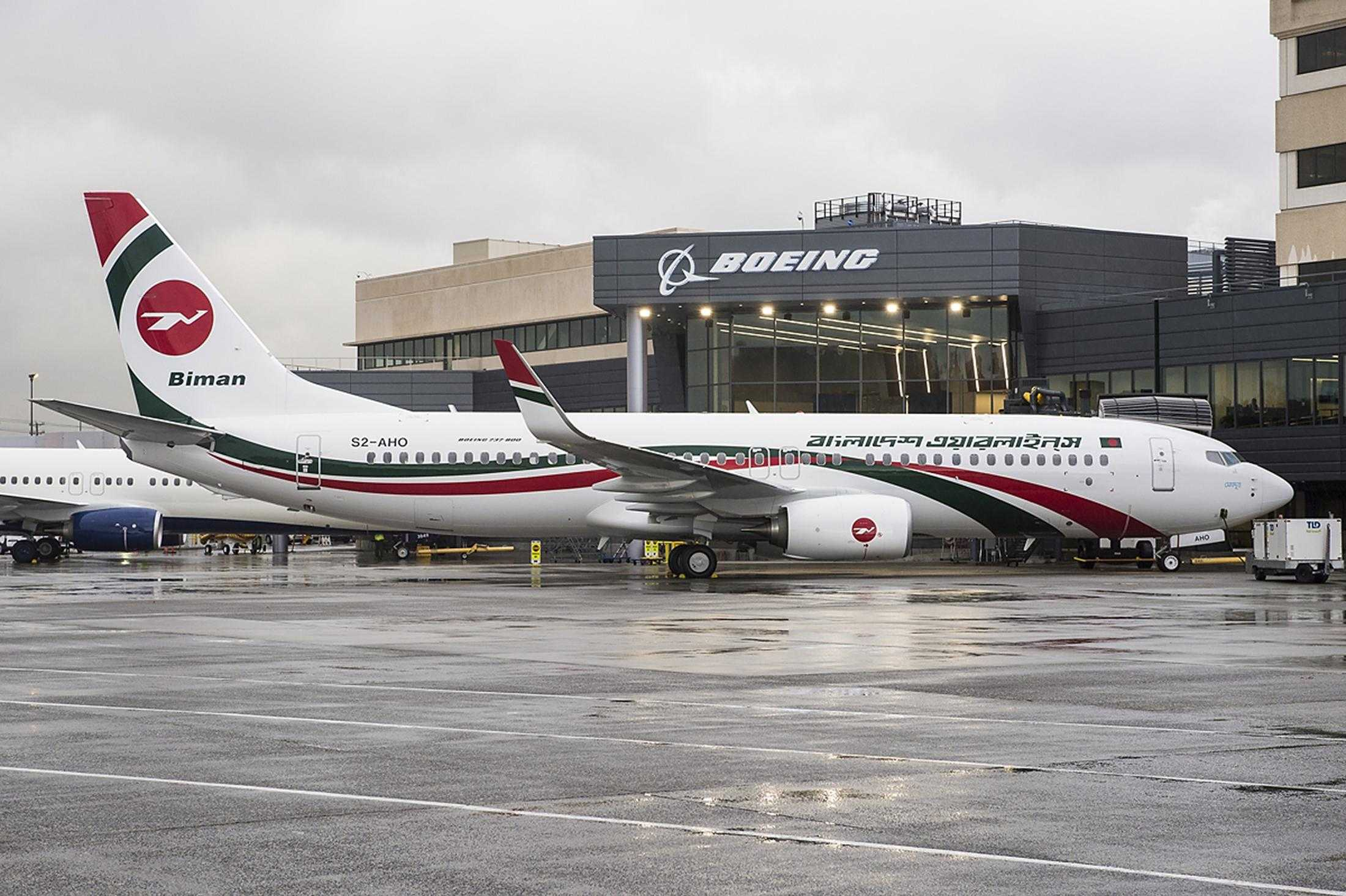 Biman Bangladesh Airlines Delivery Events Boeing Field Seattle