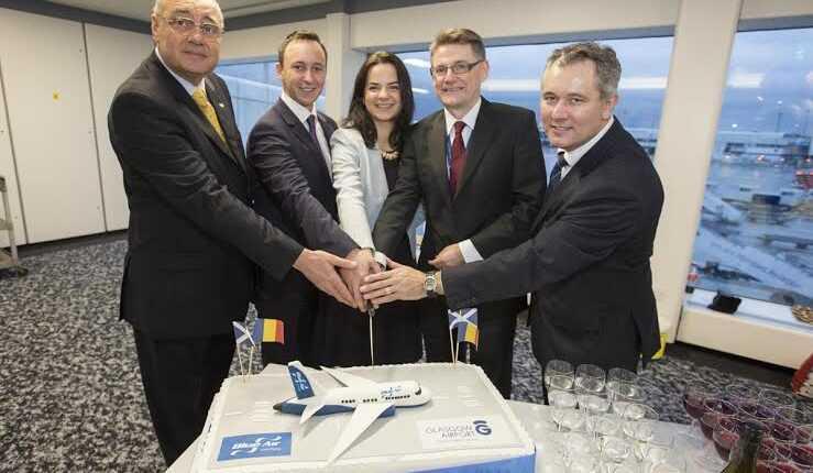 Blue Air a inaugurat ruta Bucureşti – Glasgow, pe 17 decembrie 2015
