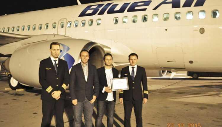 Blue Air a depăşit pragul de 2 milioane de pasageri transportaţi în 2015