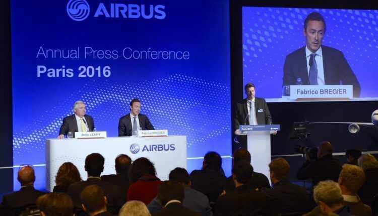 În 2015, Airbus a livrat 635 de avioane şi a primit comenzi pentru 1.036