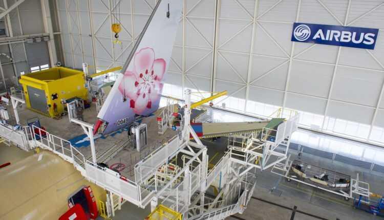 Primul Airbus A350 XWB China Airlines pe linia de asamblare de la Toulouse