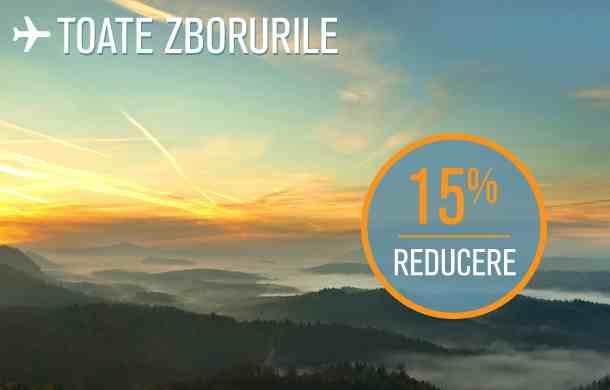 [Ofertă Blue Air] 15% discount pentru toate biletele de avion, Bucureşti – Iaşi de la 54 lei