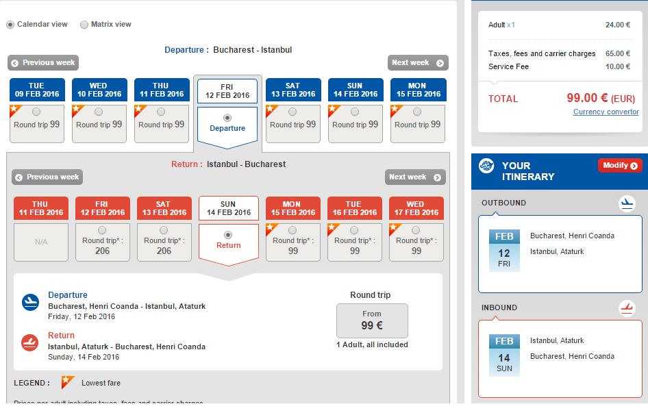 Bucuresti-Istanbul-99-EURO-Turkish-Airlines