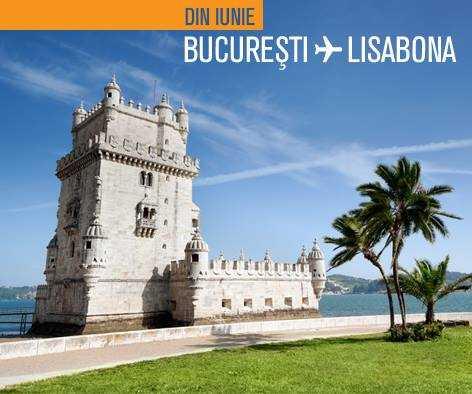 Orarul zborurilor Bucureşti – Lisabona cu Blue Air, din iunie 2016