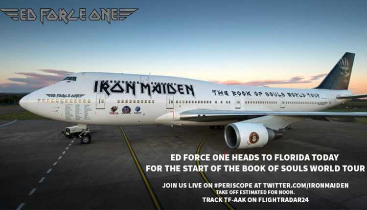 "(Video) Boeing 747-400 ""Ed Force One"" – IRON MAIDEN"