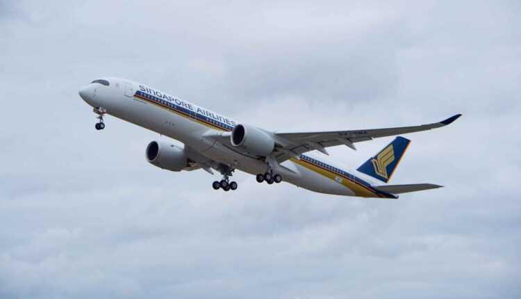 (Video) Primul Airbus A350 XWB Singapore Airlines la primul zbor
