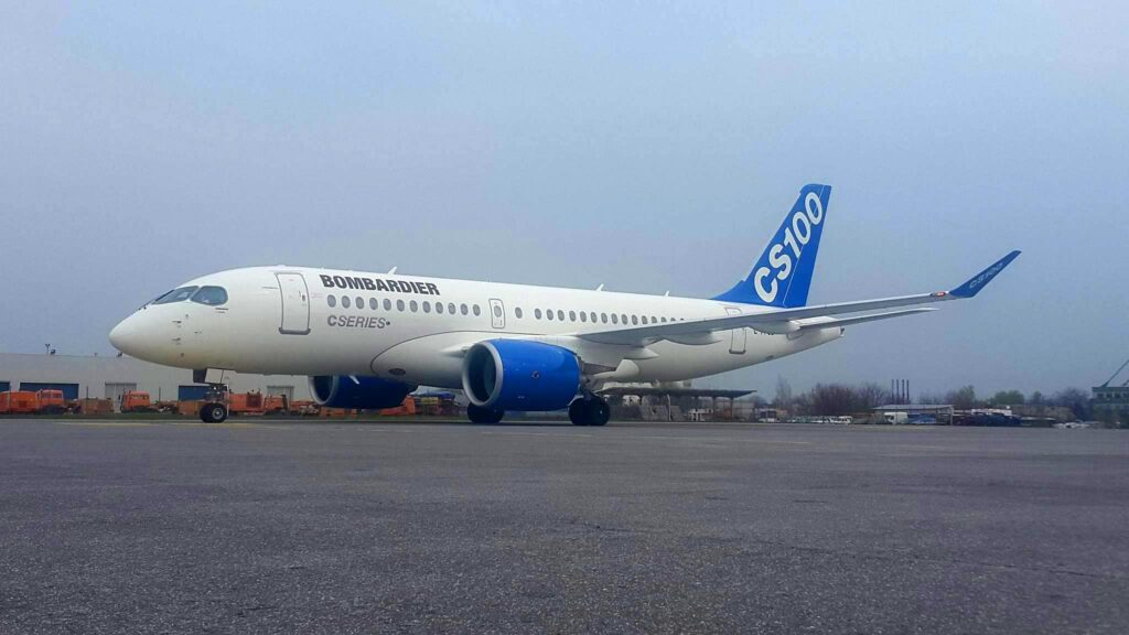 Bombardier-CS100-Aeroport-Otopeni-Bucuresti