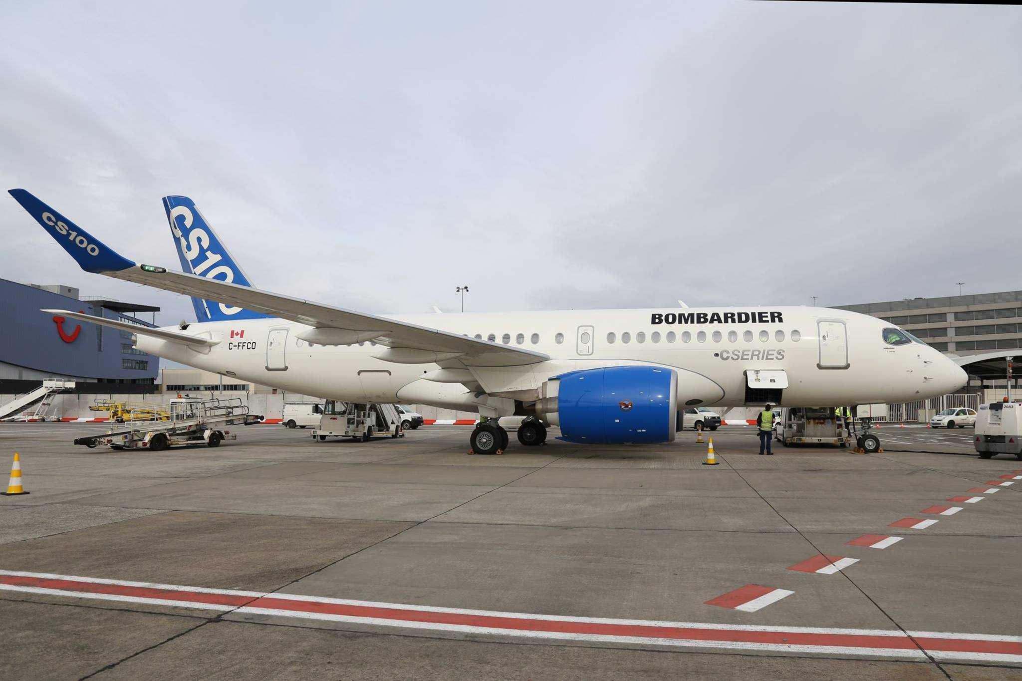 Bombardier-CS100-Bruxelles