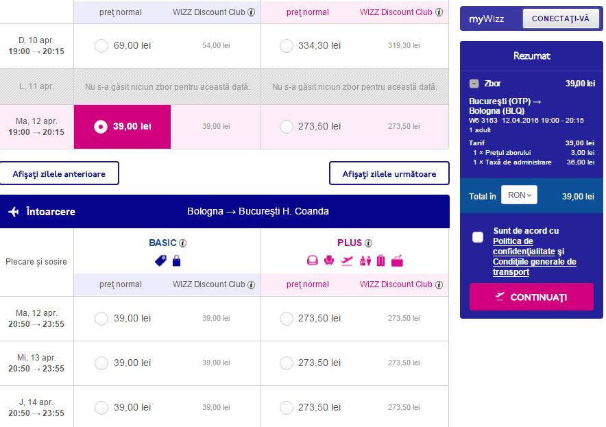 Bucharest-Bologna-39-lei-Wizz-Air