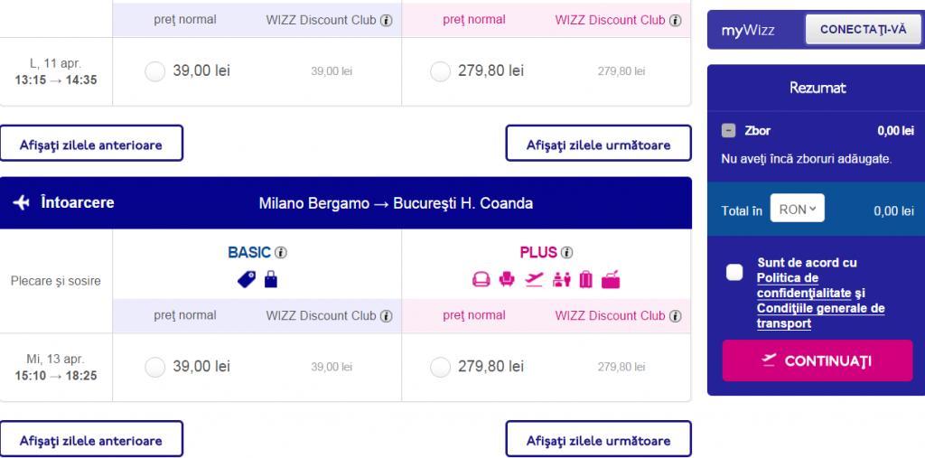 Bucuresti-Milano-39-lei-Wizz-Air